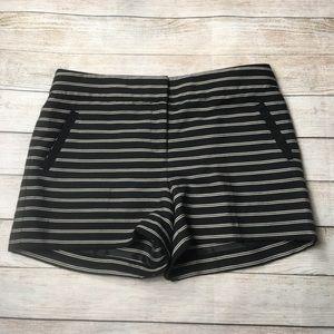 LOFT | the riviera black stripe shorts 10